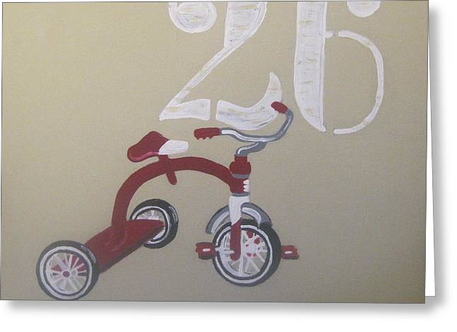 Flyer Paintings Greeting Cards - Tricycle Greeting Card by Eva  Dunham