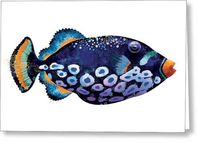 Trigger Fish Greeting Card by Trevor Irvin