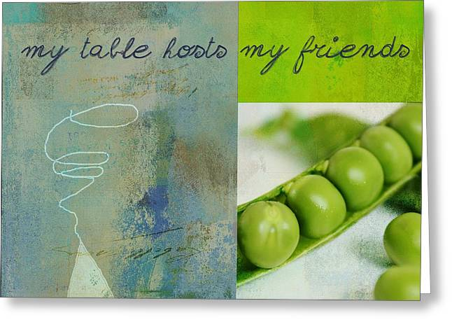 Kitchen Wall Digital Greeting Cards - Triloli Kitchen Decor - Green tx51  Greeting Card by Variance Collections