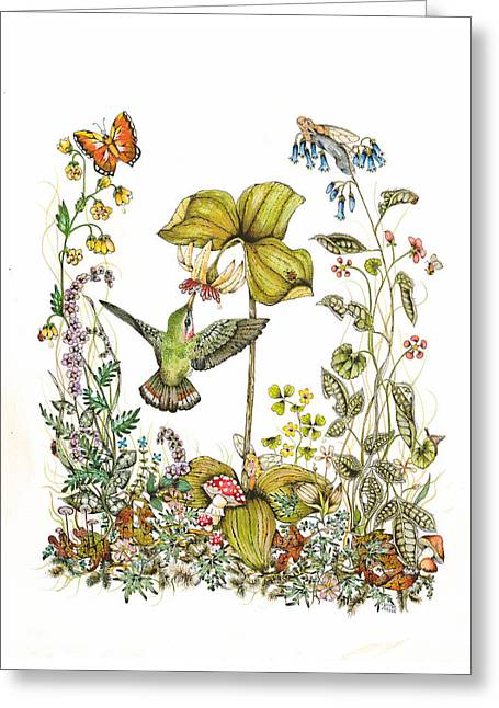 Trillium Greeting Card by Donna Genovese