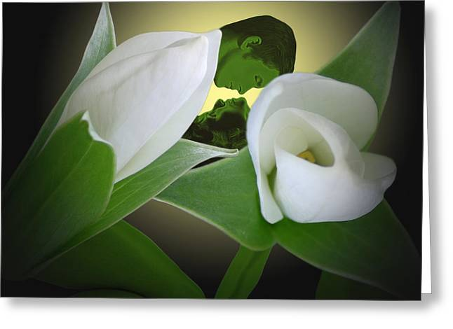 Floral Digital Art Digital Art Digital Art Greeting Cards - Trillium Two Greeting Card by Torie Tiffany