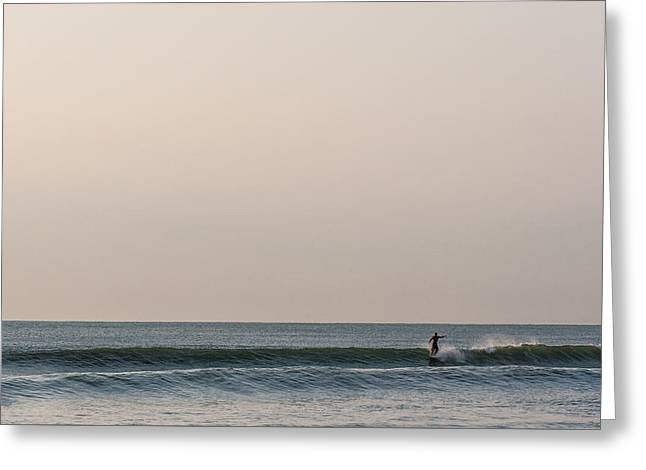 Surfing Art Greeting Cards - Trimming Greeting Card by AM Photography