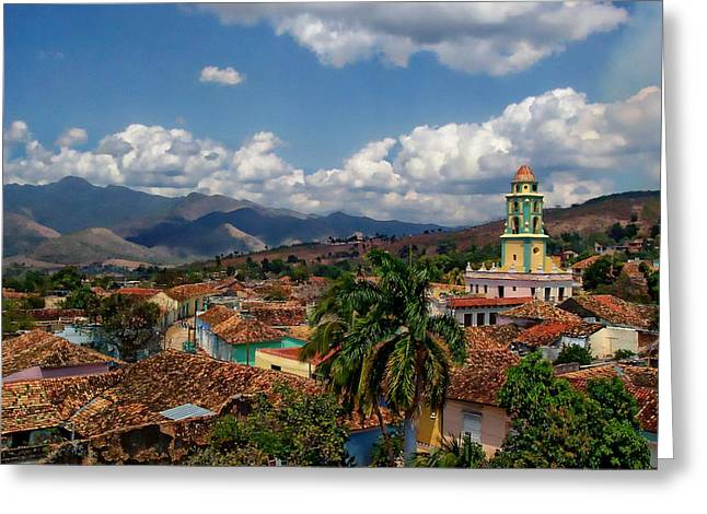 Historic Site Greeting Cards - Trinidad and the Valley de los Ingenios Greeting Card by Anthony Dezenzio