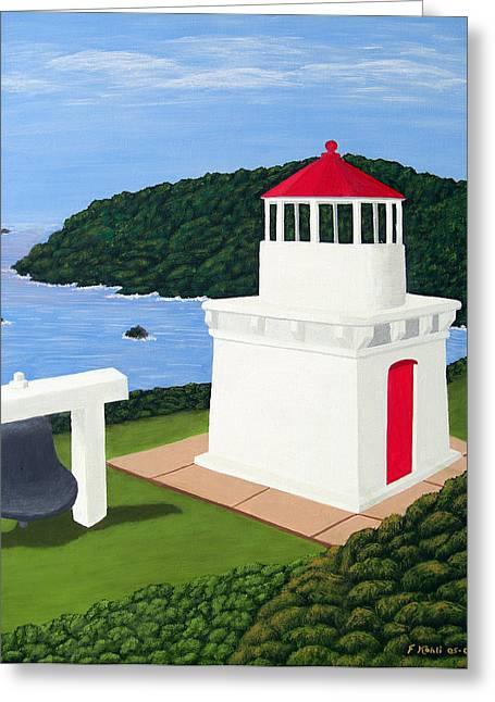 Realism Greeting Cards - Trinidad Head Lighthouse Greeting Card by Frederic Kohli