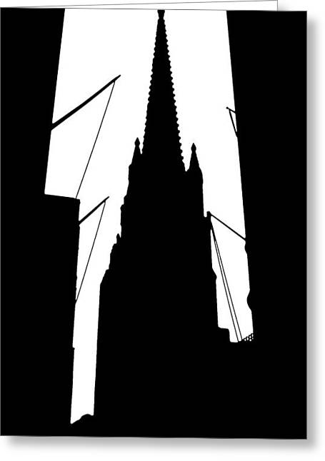 Broadway St Greeting Cards - Trinity Church - NYC Greeting Card by Frank Mari