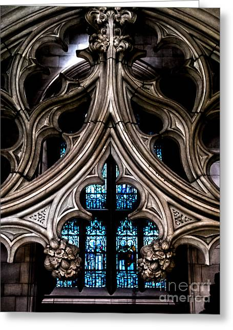 Ecru And Brown Greeting Cards - Trinity Church Chapel Greeting Card by James Aiken