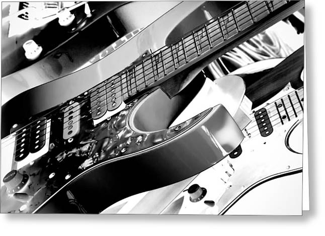 The Kingpins Greeting Cards - Trio of Guitars Greeting Card by David Patterson