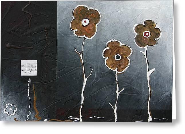 Trio Greeting Card by Vital Germaine