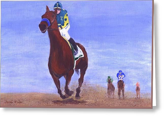 Kentucky Horse Park Paintings Greeting Cards - Triple Crown Winner Greeting Card by Jamie Frier