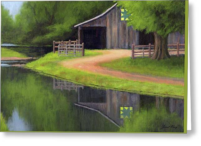 Triple L Ranch  Greeting Card by Janet King
