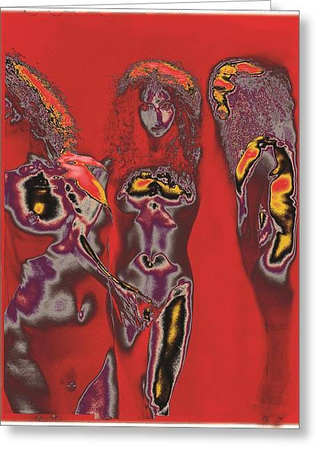 Lanvin Greeting Cards - Triplets / 1 Greeting Card by Jean-Marie Bottequin