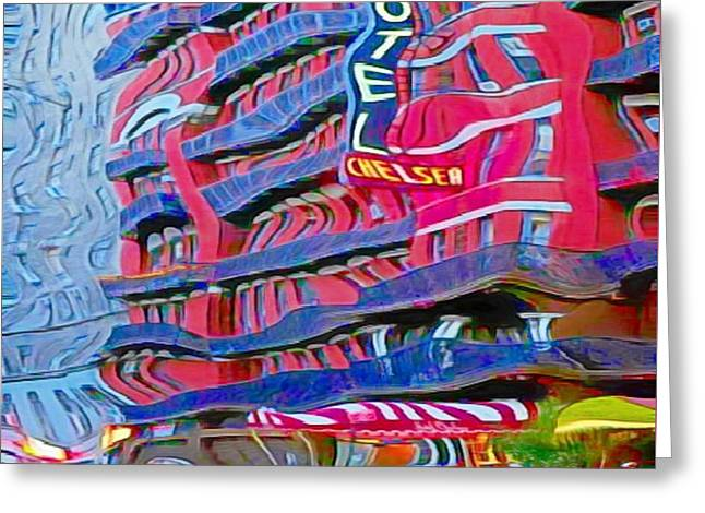 Trippin' At The Chelsea Greeting Card by John Malone
