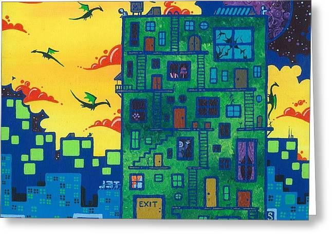 Dan Keough Greeting Cards - Trishs Painting Greeting Card by Dan Keough