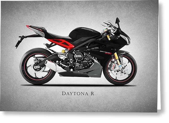 Daytona Greeting Cards - Triumph Daytona R Greeting Card by Mark Rogan