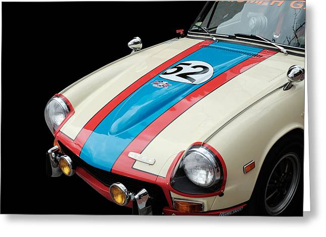 Vintage Racing Greeting Cards - Triumph GT6 Greeting Card by Edward Fielding