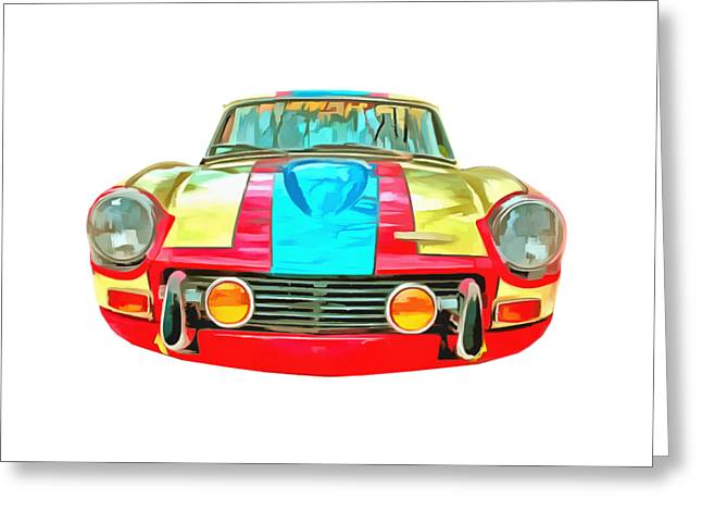 Classic Vehicle Greeting Cards - Triumph GT6 Plus Transparent Greeting Card by Edward Fielding