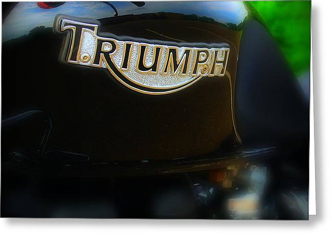 Triumph Greeting Card by Perry Webster