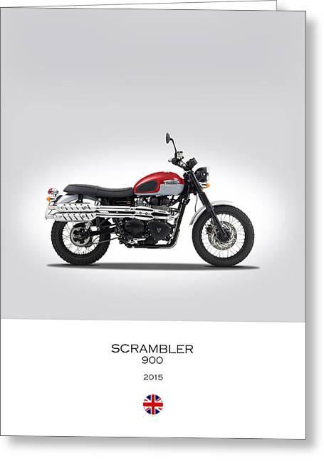 Motorcycle Greeting Cards - Triumph Scrambler 2015 Greeting Card by Mark Rogan