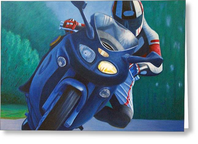 Motorcycle Greeting Cards - Triumph Sprint - Franklin Canyon  Greeting Card by Brian  Commerford