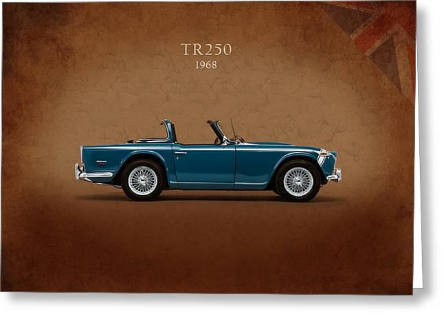 Triumph Tr250 Greeting Card by Mark Rogan
