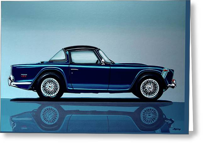 Triumph Tr5 1968 Painting Greeting Card by Paul Meijering