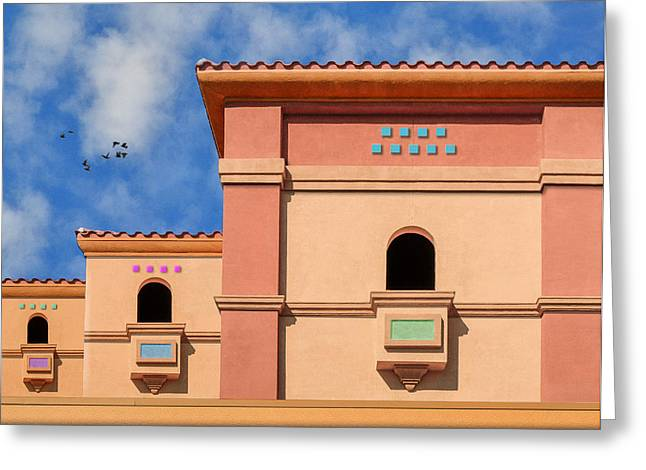 Art Of Building Greeting Cards - Trois Balcons Greeting Card by Paul Wear