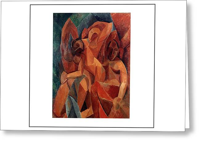 Pablo Picasso Paintings Greeting Cards - Trois femmes Three Women  Greeting Card by Pablo Picasso