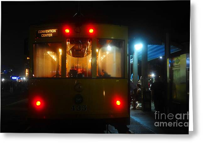 Convention Greeting Cards - Trolley car Greeting Card by David Lee Thompson