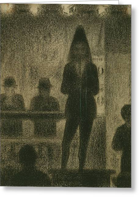 Seurat Drawings Greeting Cards - Trombonist  Greeting Card by Georges-Pierre Seurat
