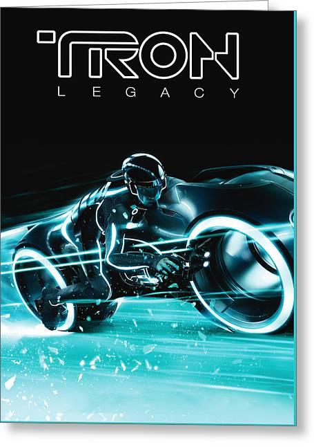 Tron Legacy Greeting Card by Matt Haig