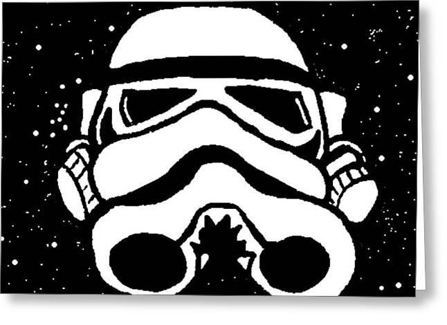 Trooper on Starry Sky Greeting Card by Jera Sky