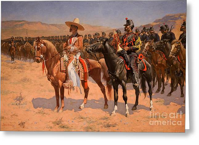 Frederick Greeting Cards - Troops Greeting Card by Celestial Images