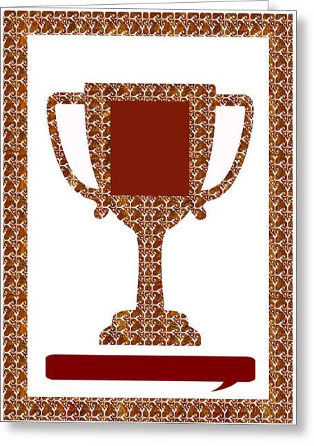 Human Rights Leader Greeting Cards - Trophy Award Template for business institutions and charities DOWNLOAD stockIMAGE stockART Greeting Card by Navin Joshi