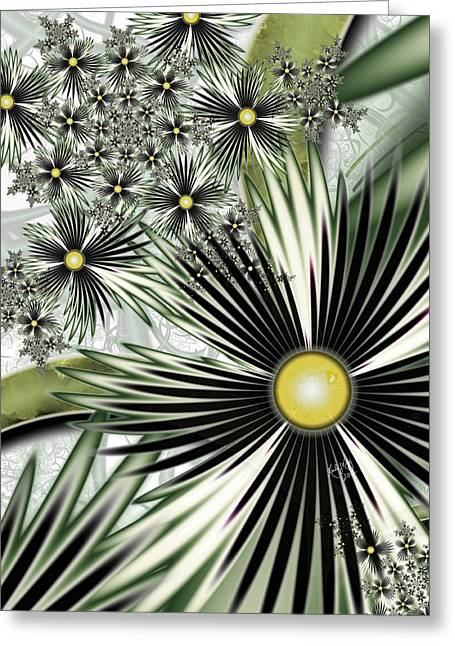 Karlajkitty Digital Greeting Cards - Tropica Greeting Card by Karla White
