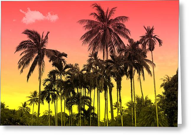 Tropical 9 Greeting Card by Mark Ashkenazi