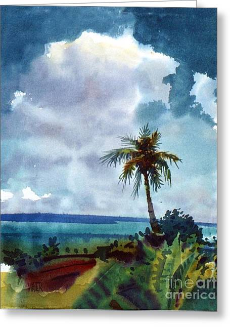 Tropical Afternoon Greeting Card by Donald Maier