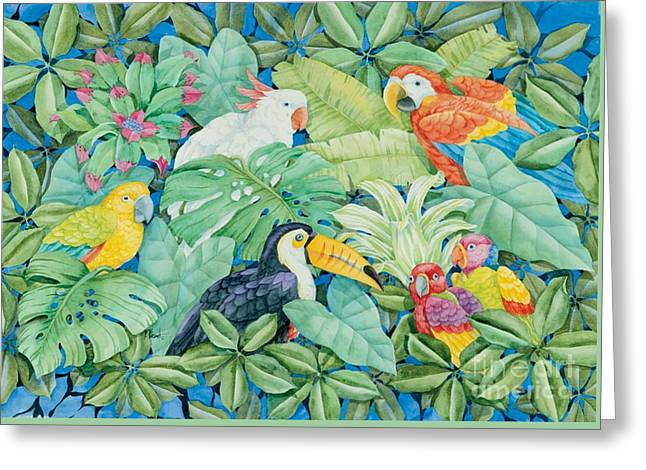Tropical Birds Greeting Cards - Tropical Birds Greeting Card by Paul Brent