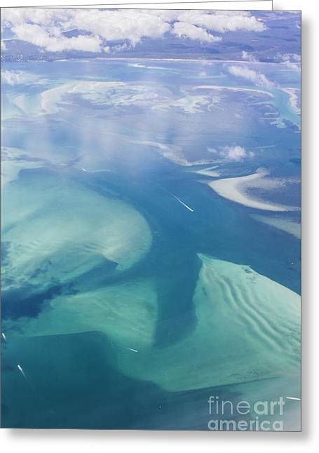Tropical Blue Ocean Aerial Landscape Greeting Card by Jorgo Photography - Wall Art Gallery