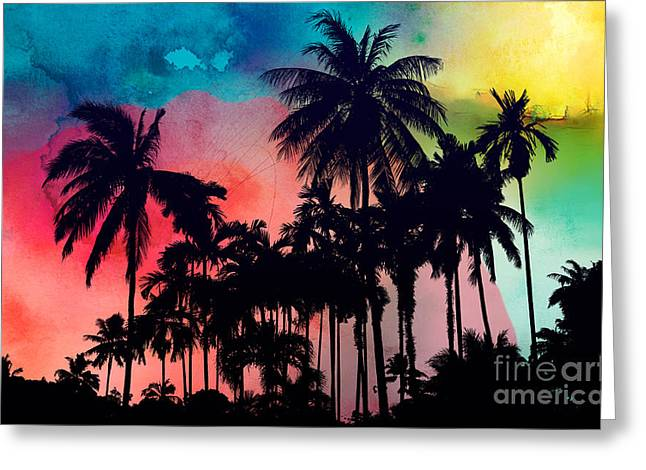 Tropical Colors Greeting Card by Mark Ashkenazi