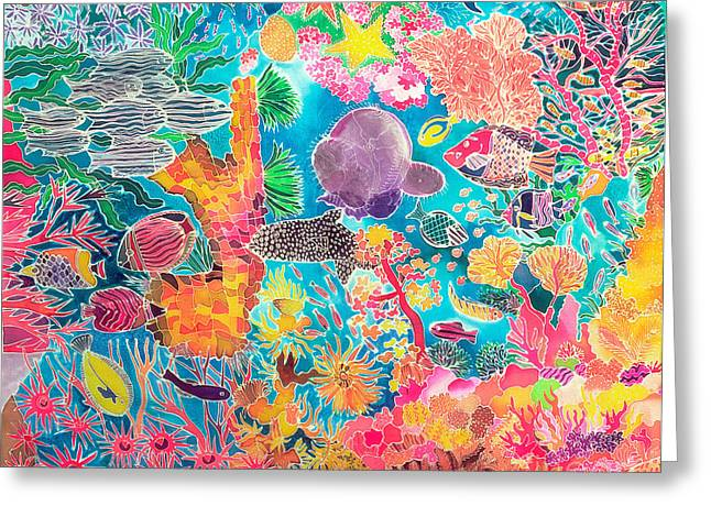 Ocean Habitat Greeting Cards - Tropical Coral Greeting Card by Hilary Simon