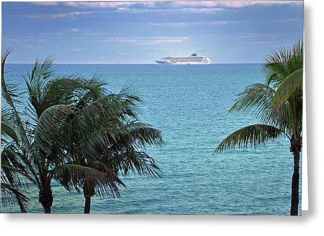 Boat Cruise Greeting Cards - Tropical Cruise Greeting Card by Frank Mari