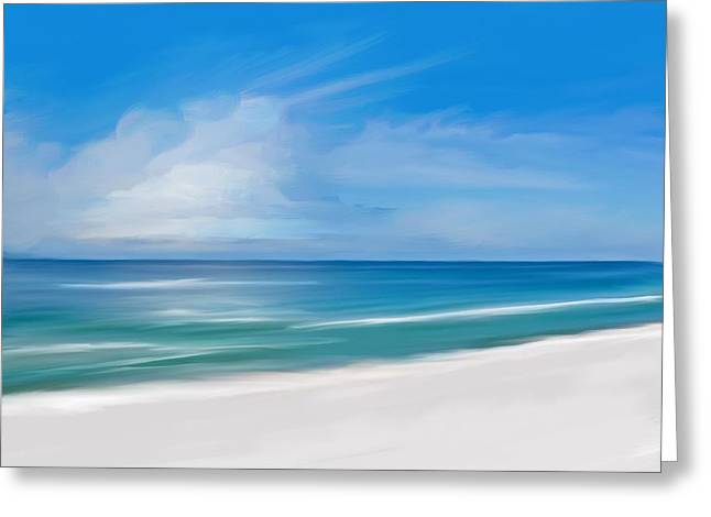 Tropical Day Greeting Card by Anthony Fishburne
