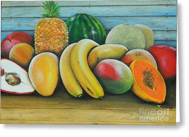 Watermelon Greeting Cards - Tropical Delight 3 Greeting Card by Kenneth Harris
