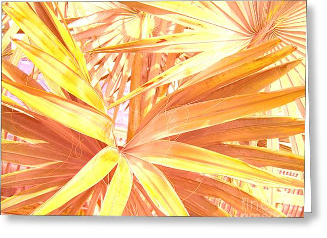 Plants Greeting Cards - Tropical Dreams in Pastel Apricot Greeting Card by Susanne Van Hulst