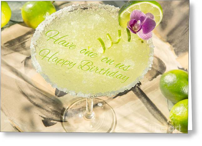 Owner Greeting Cards - Tropical Drink Greeting Card by Iris Richardson
