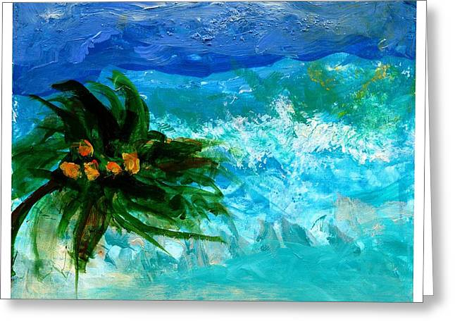Tropical Greeting Card by Empowered Creative Fine Art