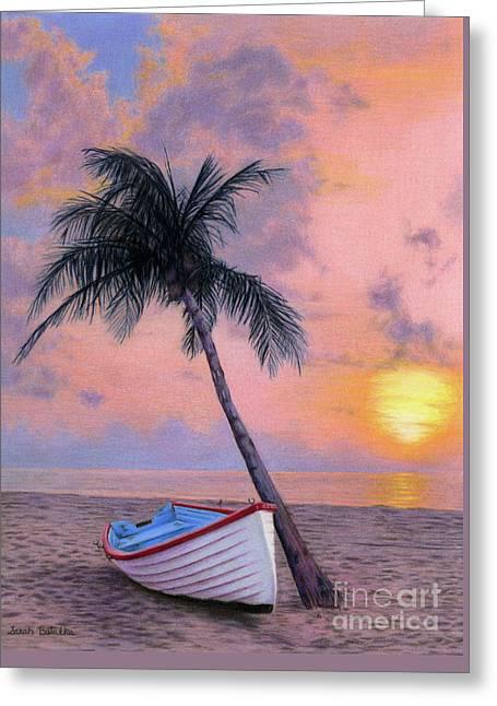 Tropical Escape Greeting Card by Sarah Batalka