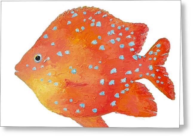Fish Print Greeting Cards - Tropical Fish - Bathroom Art Greeting Card by Jan Matson