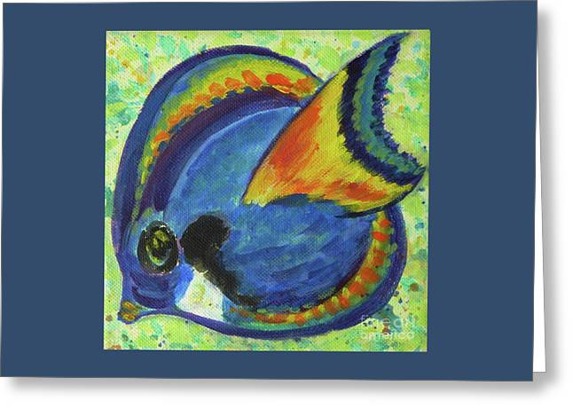 Recently Sold -  - Tangerine Greeting Cards - Tropical Fish Series 3 of 4 Greeting Card by Gail Kent