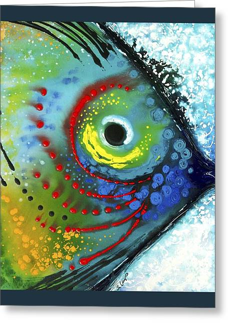 Modern Abstract Art Prints Greeting Cards - Tropical Fish Greeting Card by Sharon Cummings